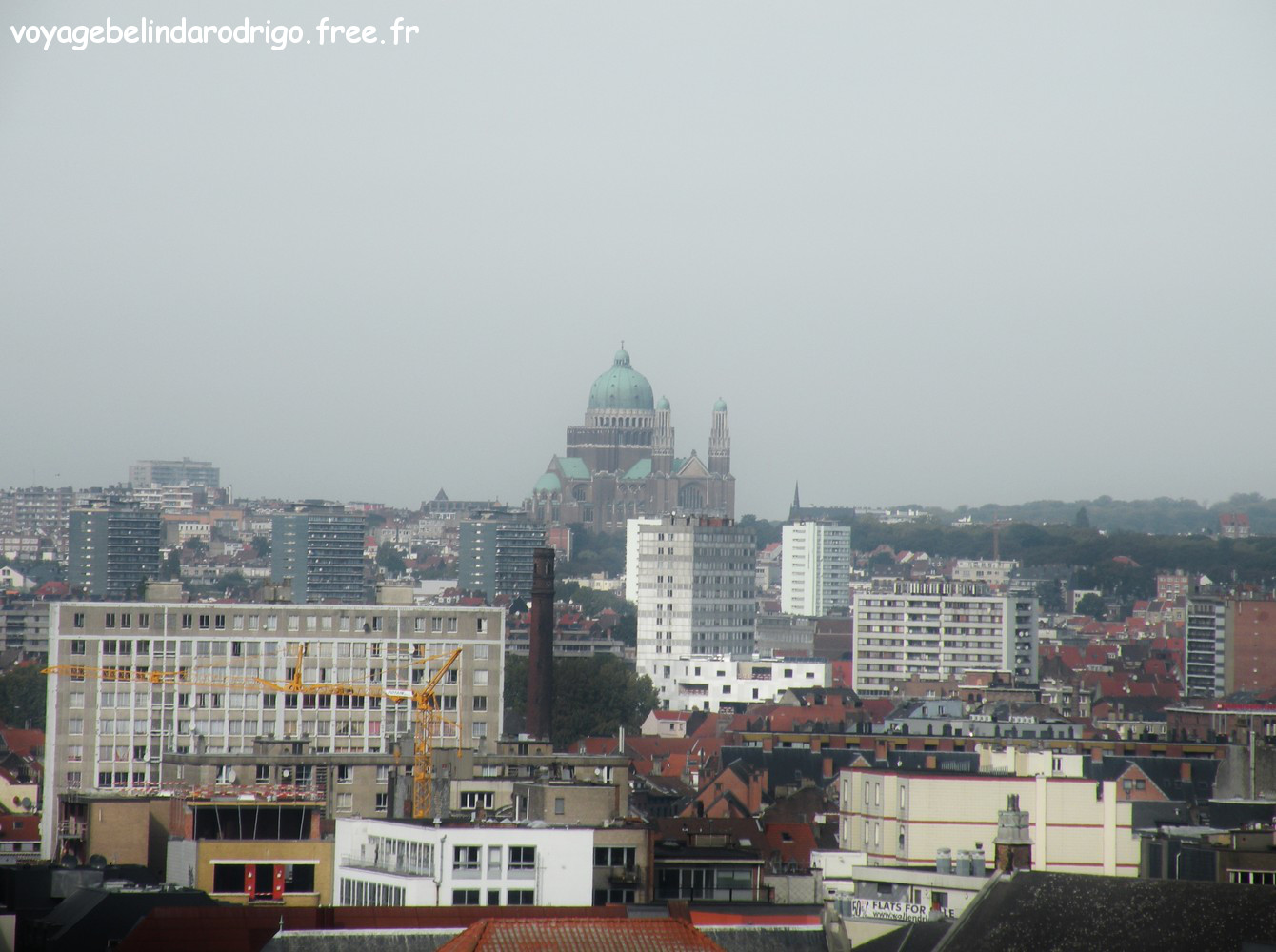 Basilique du Sacré-Cœur de Koekelberg - Vue depuis le Palais de  Justice - Bruxelles