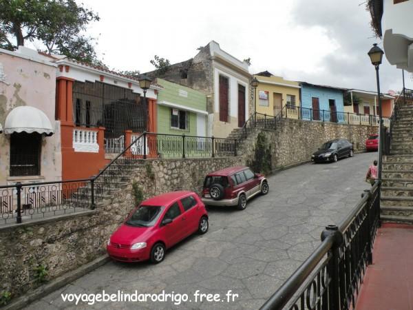 Calle Hostos - où se trouve l'hostal Nomadas - Santo Domingo