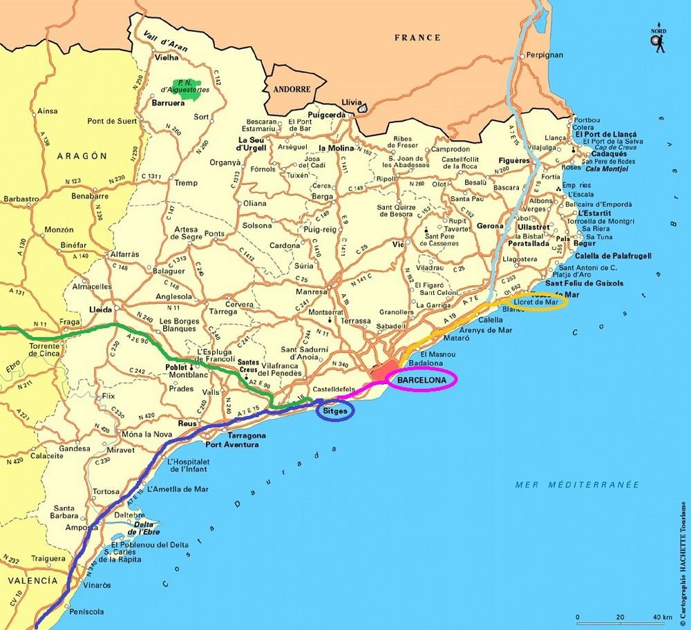 Carte Catalogne 2016