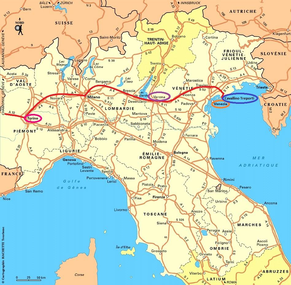 Carte Italie 2013