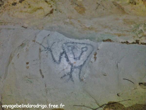 Pictographe - Cueva de la Linea - Parque Nacional Los Haitises