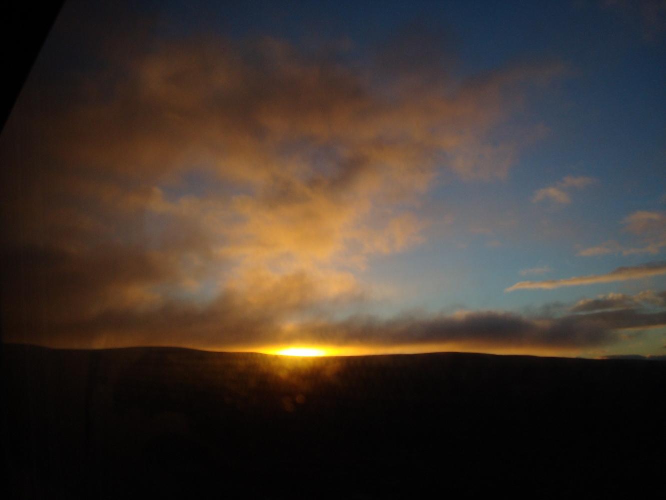 Lever de soleil - Sur la route de Bariloche