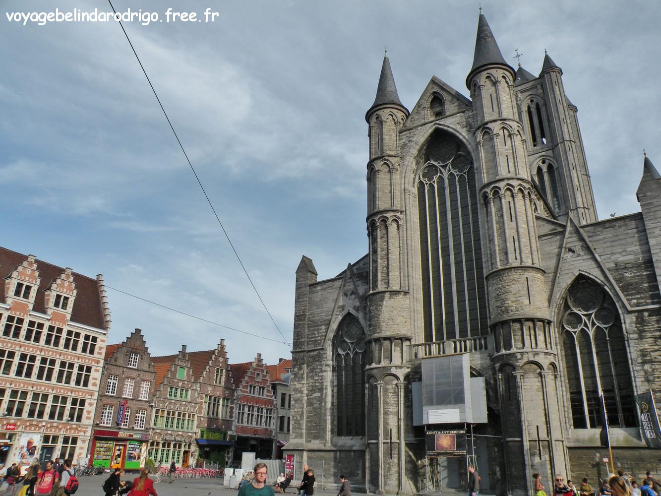 Eglise Saint Nicolas et place Korenmarkt - Gand