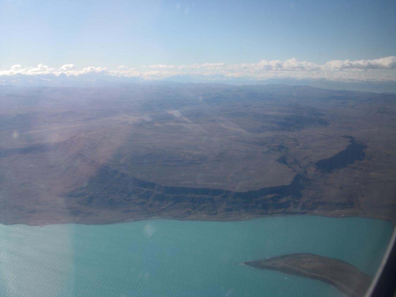 Lago Argentino - El Calafate - Vue depuis l'avion