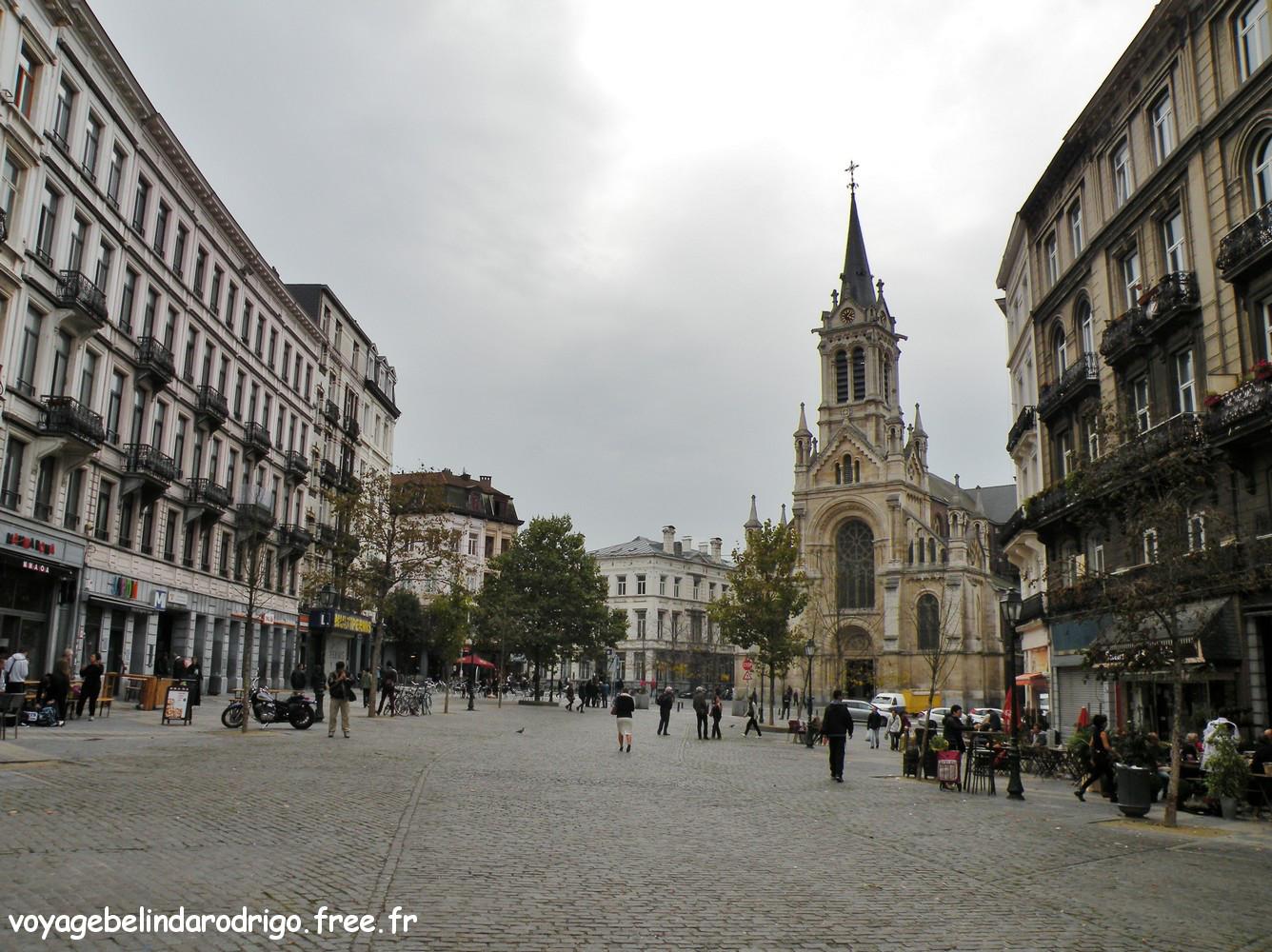 Place et église Saint Gilles - Bruxelles