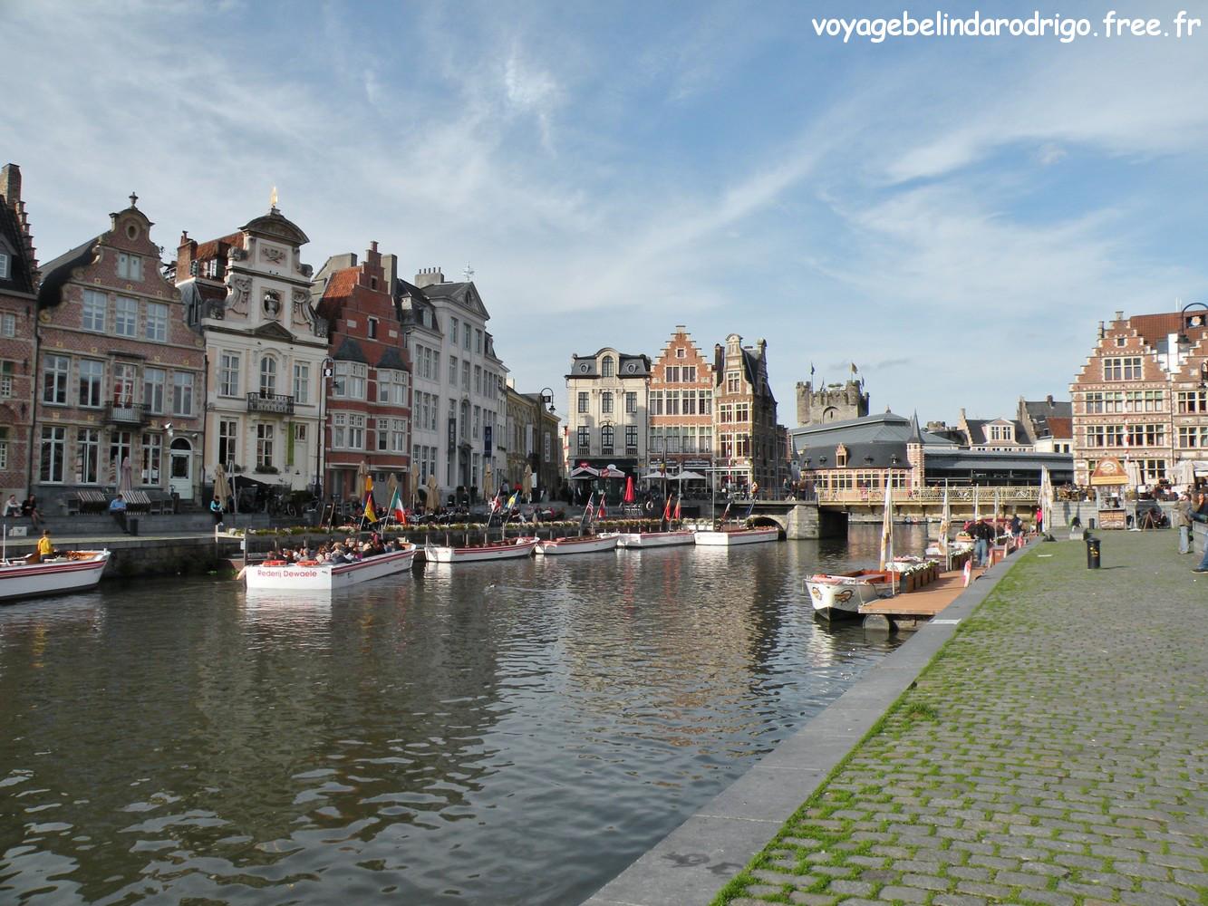 Quai aux Blés - Canal Handelsdok - Gand