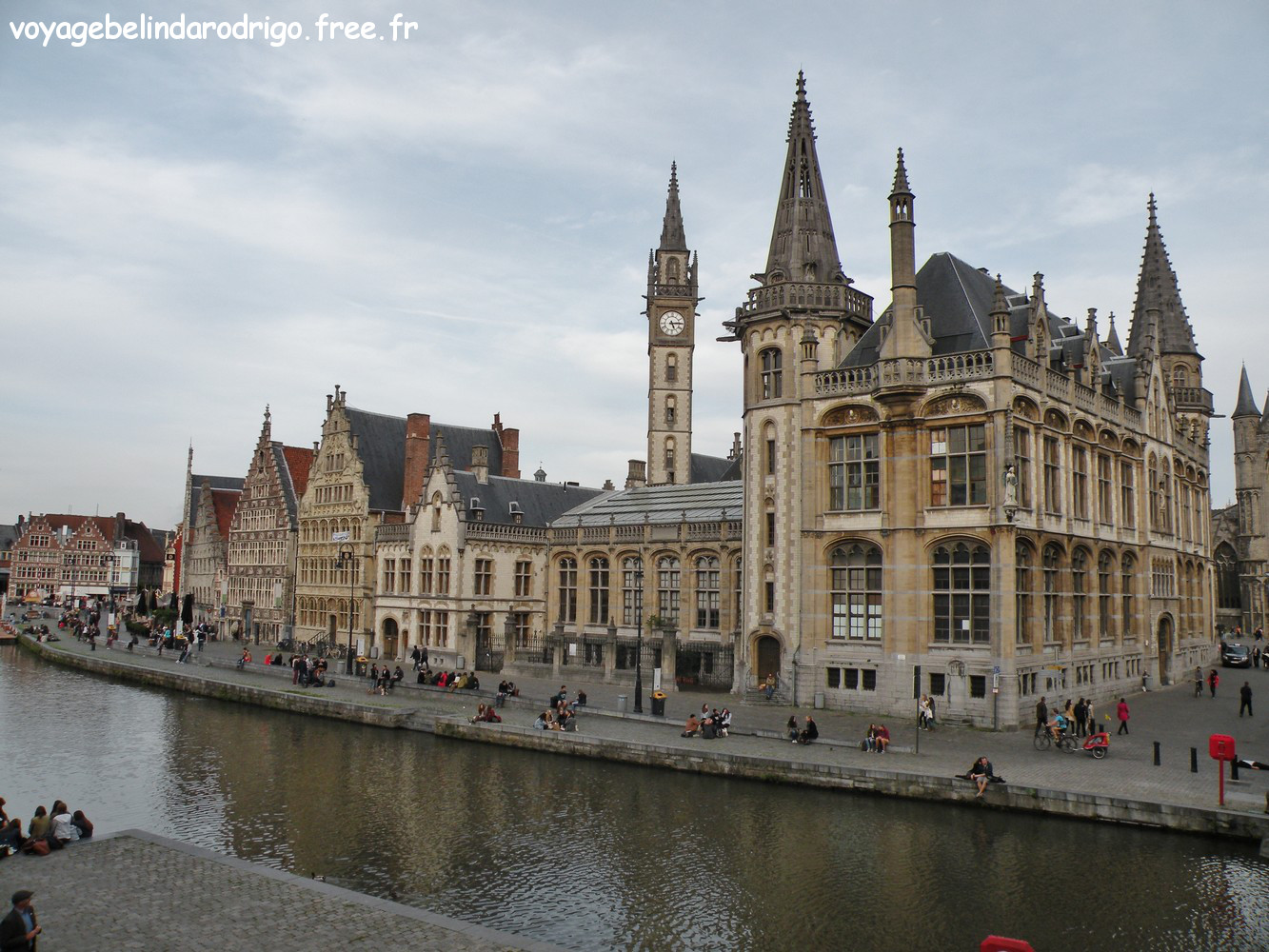 Quai aux Herbes - Canal Handelsdok - Gand