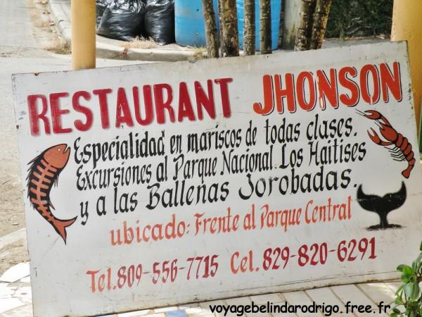 Restaurant Jhonson - Sabana de la Mar