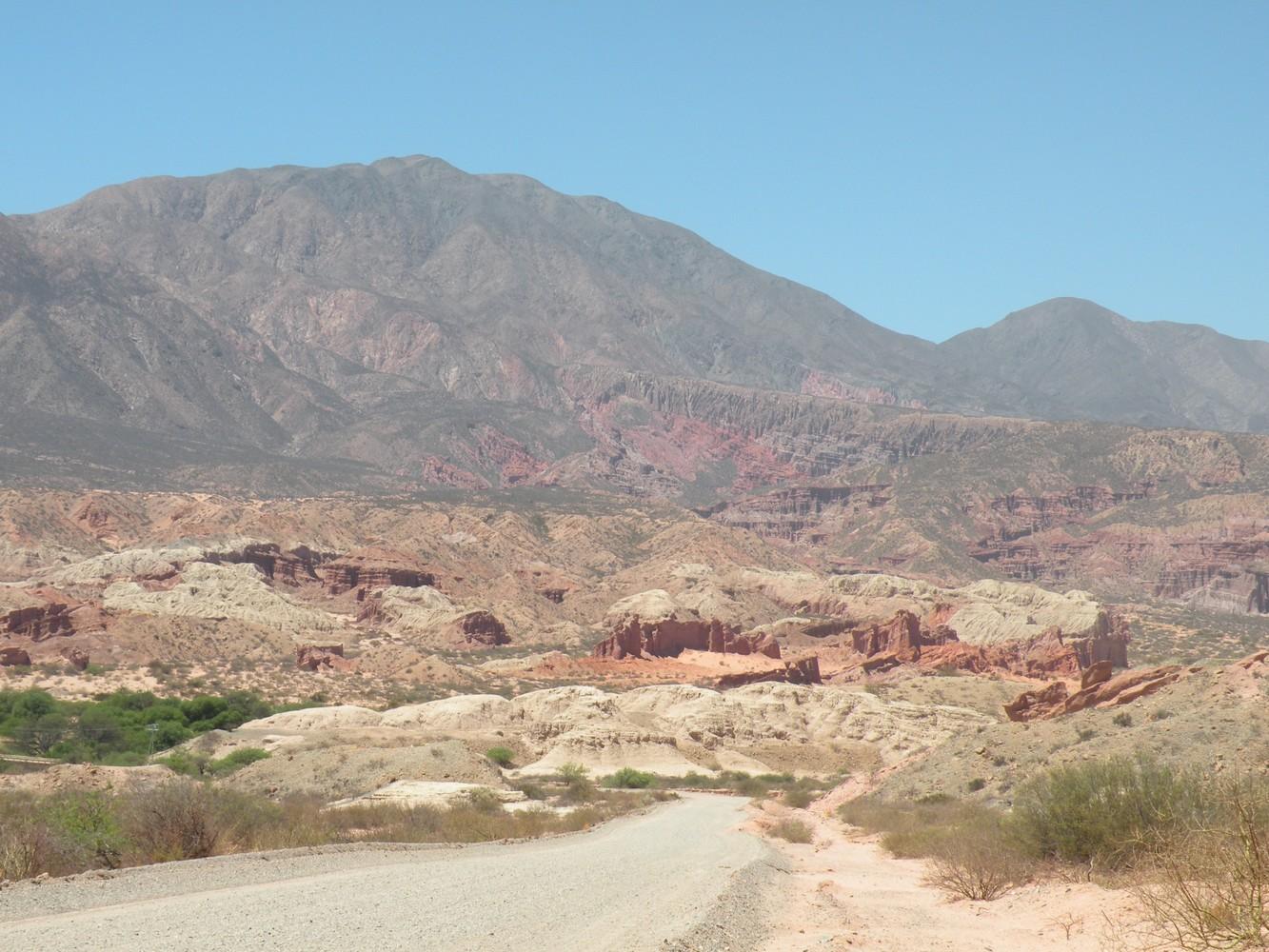 Route entre San Carlos et la Quebrada