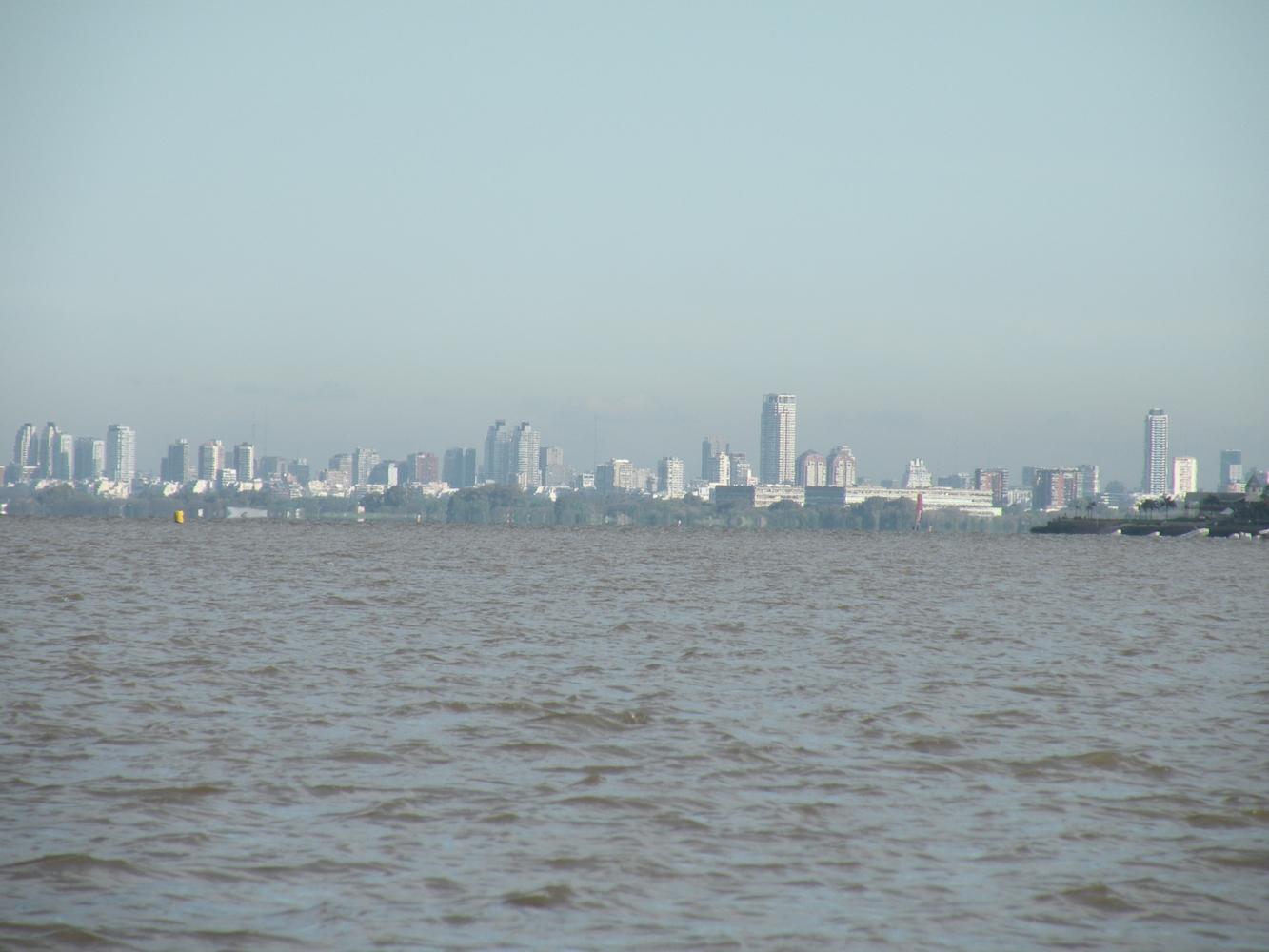 Vue depuis le río de la Plata - Buenos Aires
