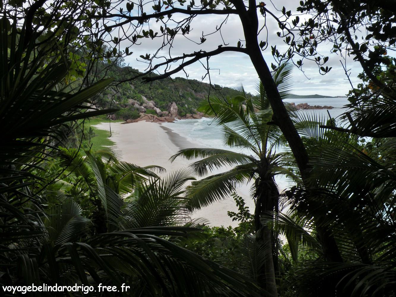 Vue sur Petite Anse - La Digue